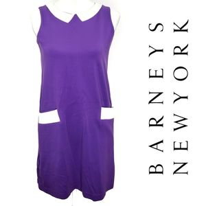 Lisa Perry Ponte Knit Shift Dress Purple W…
